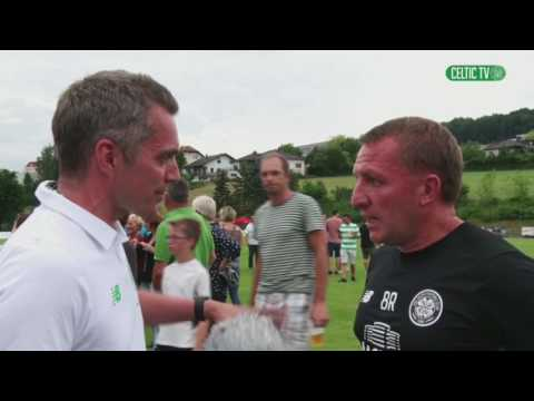 Celtic FC - post-match with Brendan Rodgers in Austria