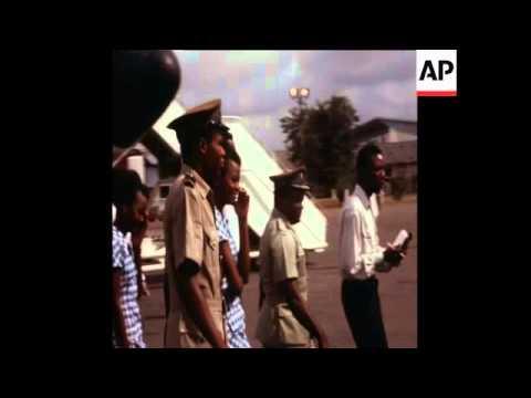 SYND 16/03/1970 COLONEL OJUKWU'S FORMER CHIEF ADVISOR SIR FRANCIS IBIAM RETURNING UNDER AMNESTY