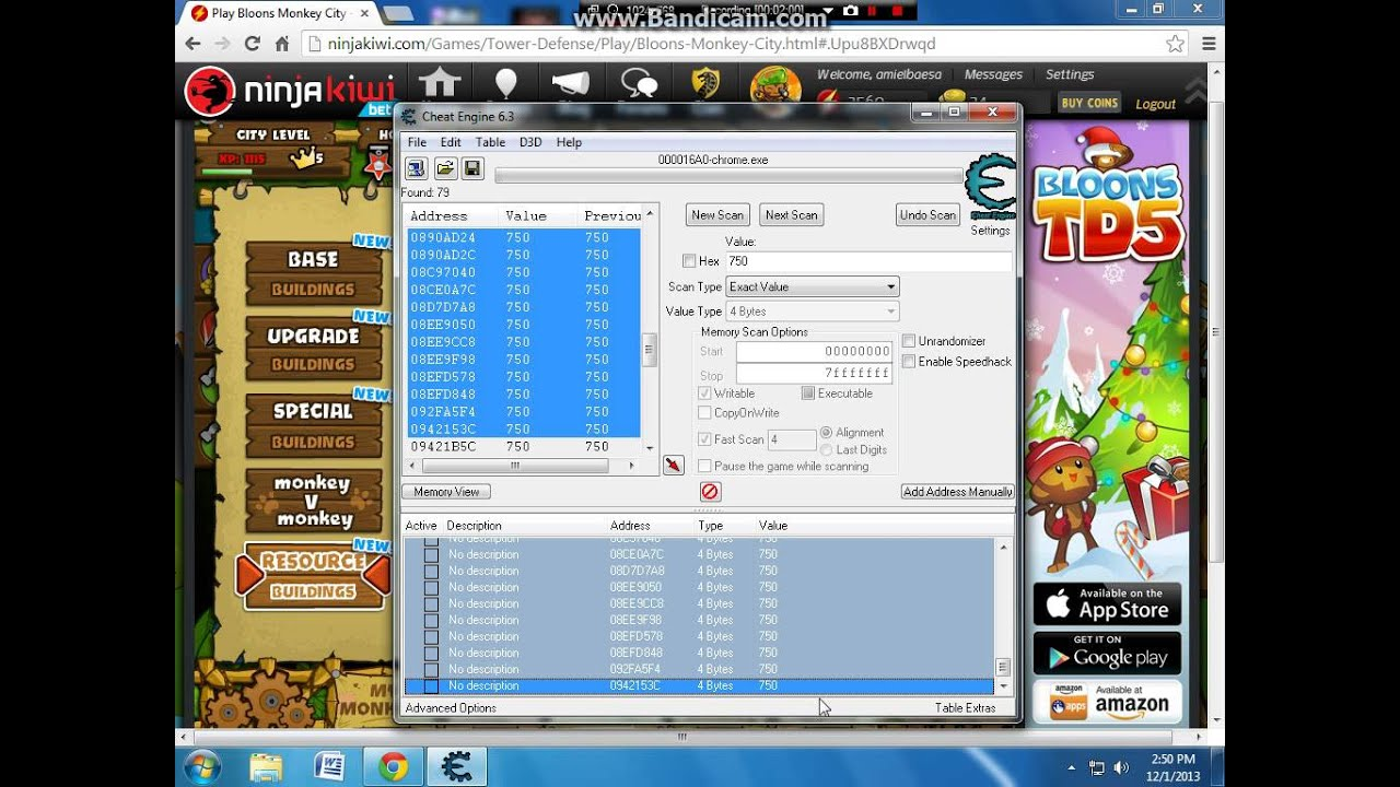 Bloons monkey city hacked game