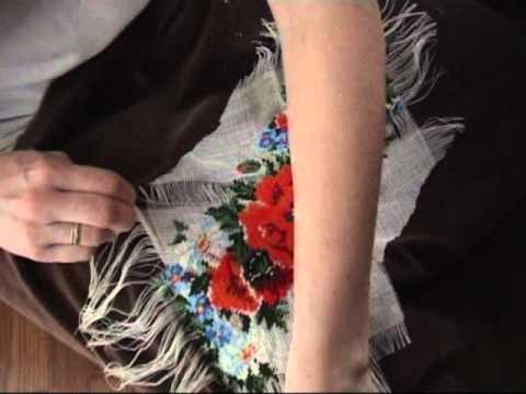 Как пришить канву для вышивки