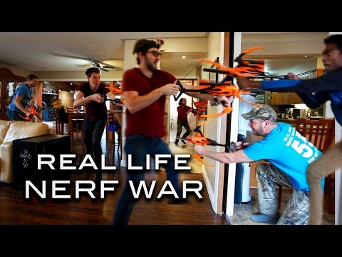 Real Life Nerf War! | Blazin Bows (Red vs Blue)