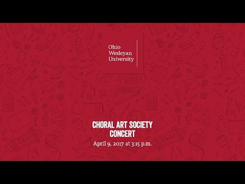 April 9, 2017: Choral Art Society Concert