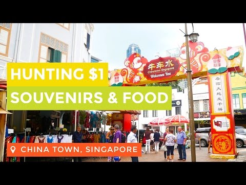 Hunting $1 Souvenirs and Food in China Town Singapore | Broewnis Travel