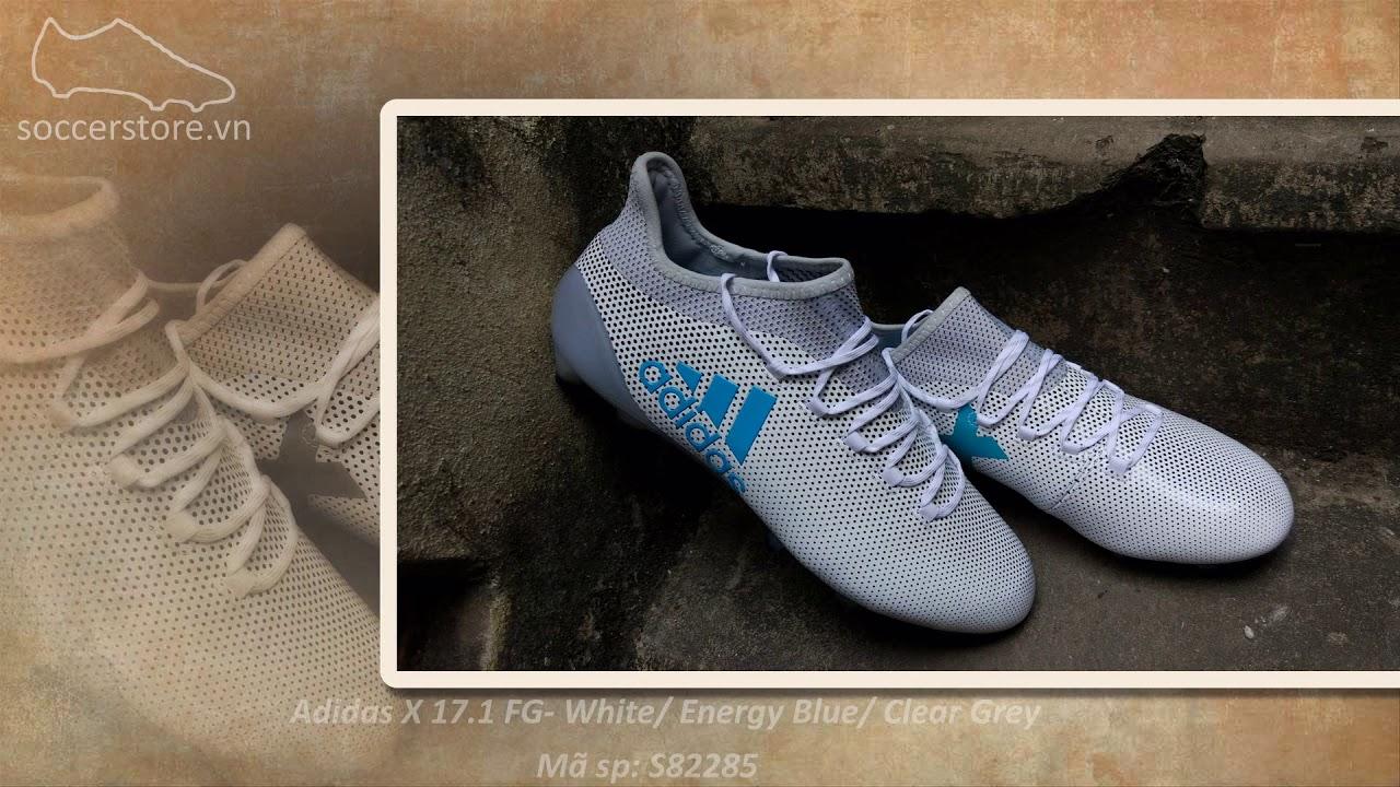 Adidas X 17.1 FG- White  Energy Blue  Clear Grey 2fbeaacfa6