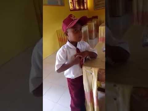Lucunya Anak SD kelas 1 lancar berbahasa Gorontalo