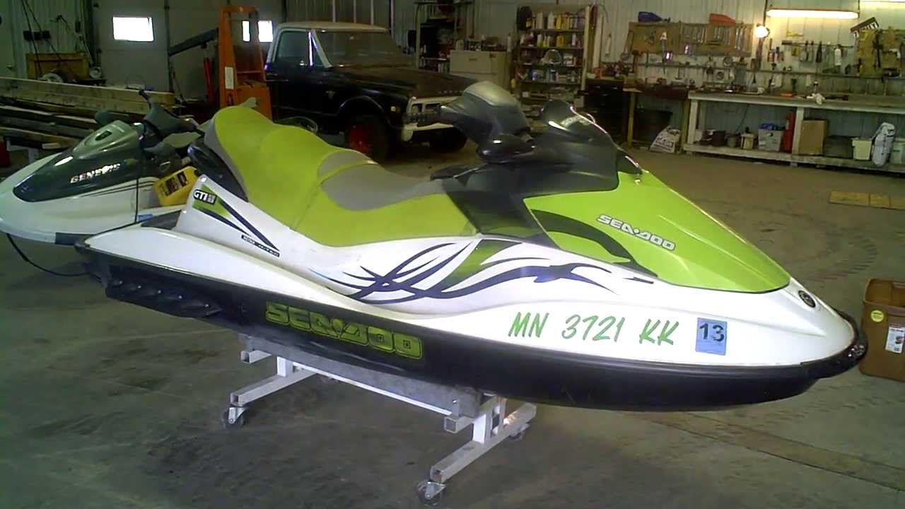 LOT 1640A 2008 Sea Doo GTI SE 155 4Tec Jet Ski - YouTube