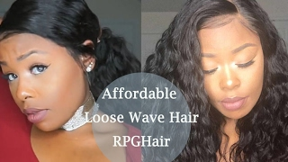 How To Install & Style  Loose Wavy Lace Front Wig| Rpghair.com