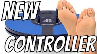 """PS4 Gaming FOOT CONTROLLER """"REALLY"""" New PS4 Controller lets you play with your FEET"""