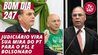Bom dia 247 (19.9.19): O Judiciário vira sua mira do PT para o PSL e Bolsonaro