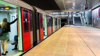 Metro - Subway in Amsterdam Netherlands (Noord Zuidlijn)