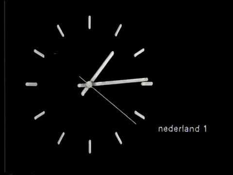 NOS - klok, leader en aankondiging Noortje Roll (16-11-1982)