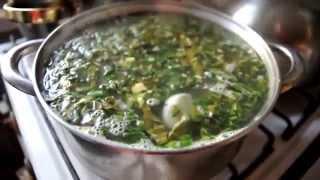 Зеленый борщ с кропивой и щавлем рецепт