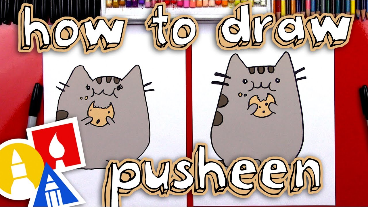 How To Draw The Pusheen Cat Eating A Cookie Giveaway Youtube