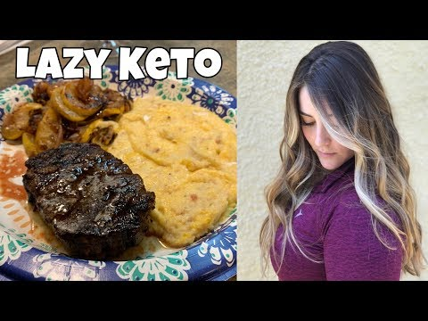 Full Day of Lazy Keto Eating | Getting My Hair Chopped | Keto Dunkin' Donuts?