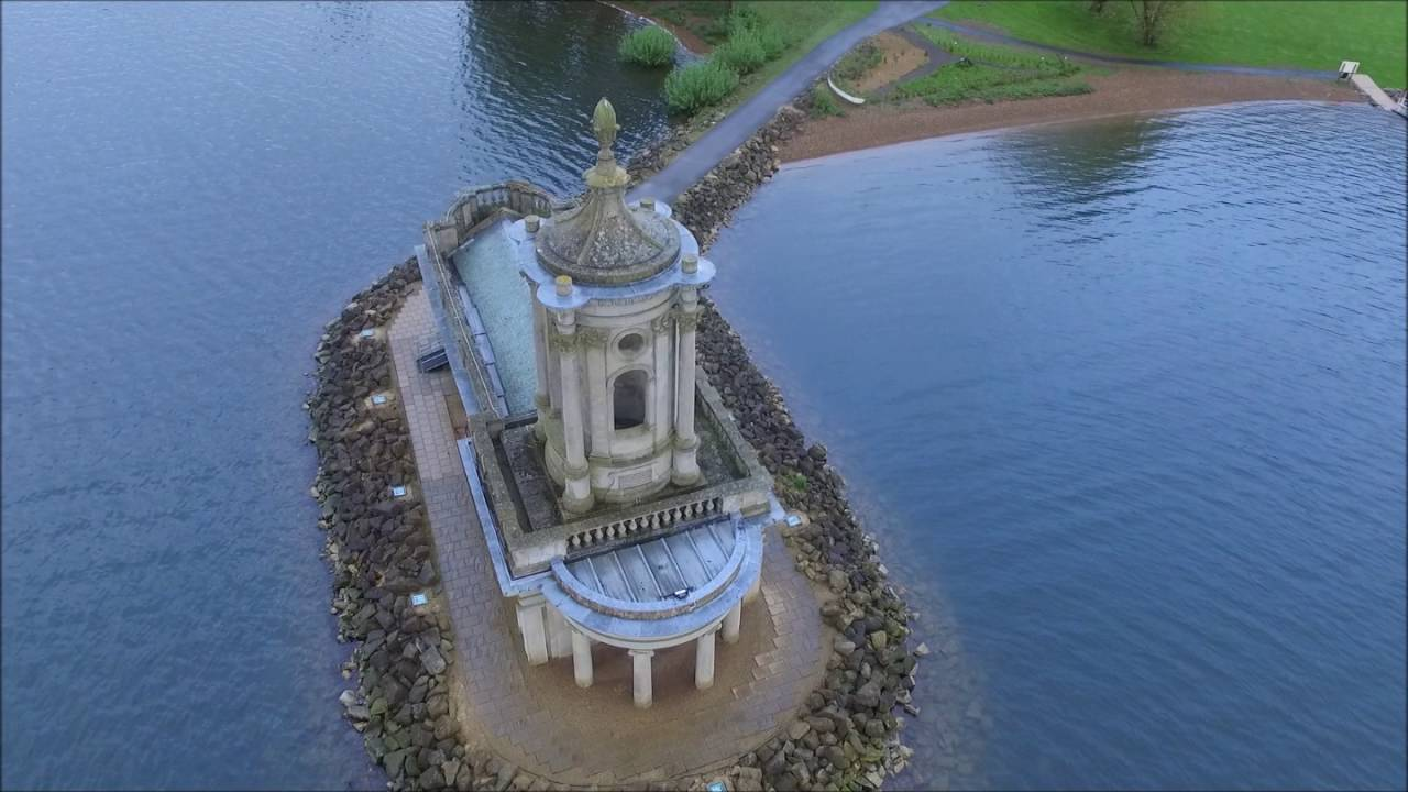 normanton church rutland flooded and partially submerged by