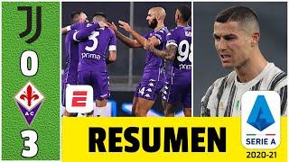 Juventus 0-3 Fiorentina. Dolorosa goleada en Turín. Cuadrado, expulsado. Cristiano no pudo | Serie A