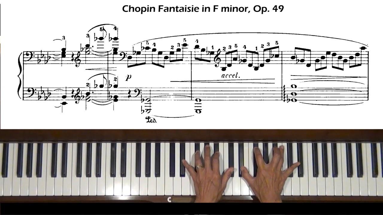 Fantaisie f minor Op.49 - Piano