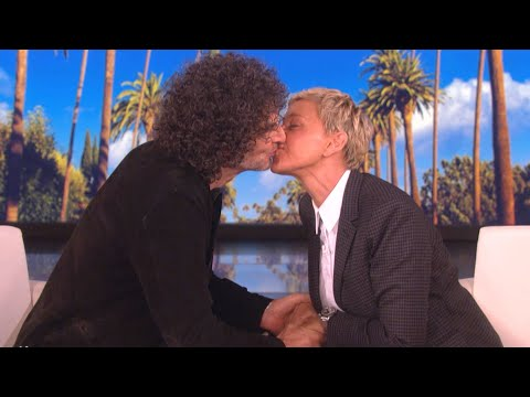See Howard Stern Give Ellen DeGeneres a Kiss!