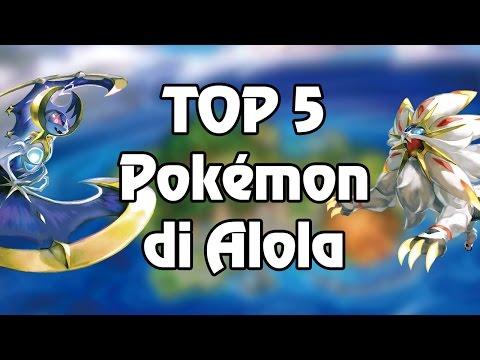 TOP 5 - Pokémon preferiti della regione di Alola!