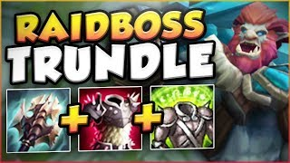 CAN ANYONE TAKE DOWN THIS RAIDBOSS TRUNDLE?? RAIDBOSS TRUNDLE TOP GAMEPLAY! - League of Legends