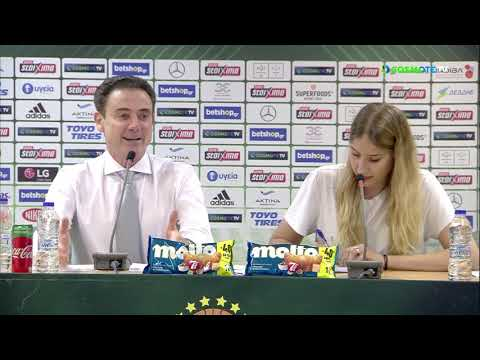 Basket League Post - Game Press Conference | Panathinaikos BC OPAP Athens vs Peristeri BC | Game 2