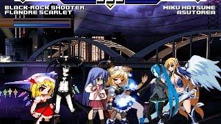 Team Black Rock Shooter vs Team Miku MMD 4v4 Patch MUGEN 1.0 Battle!!!