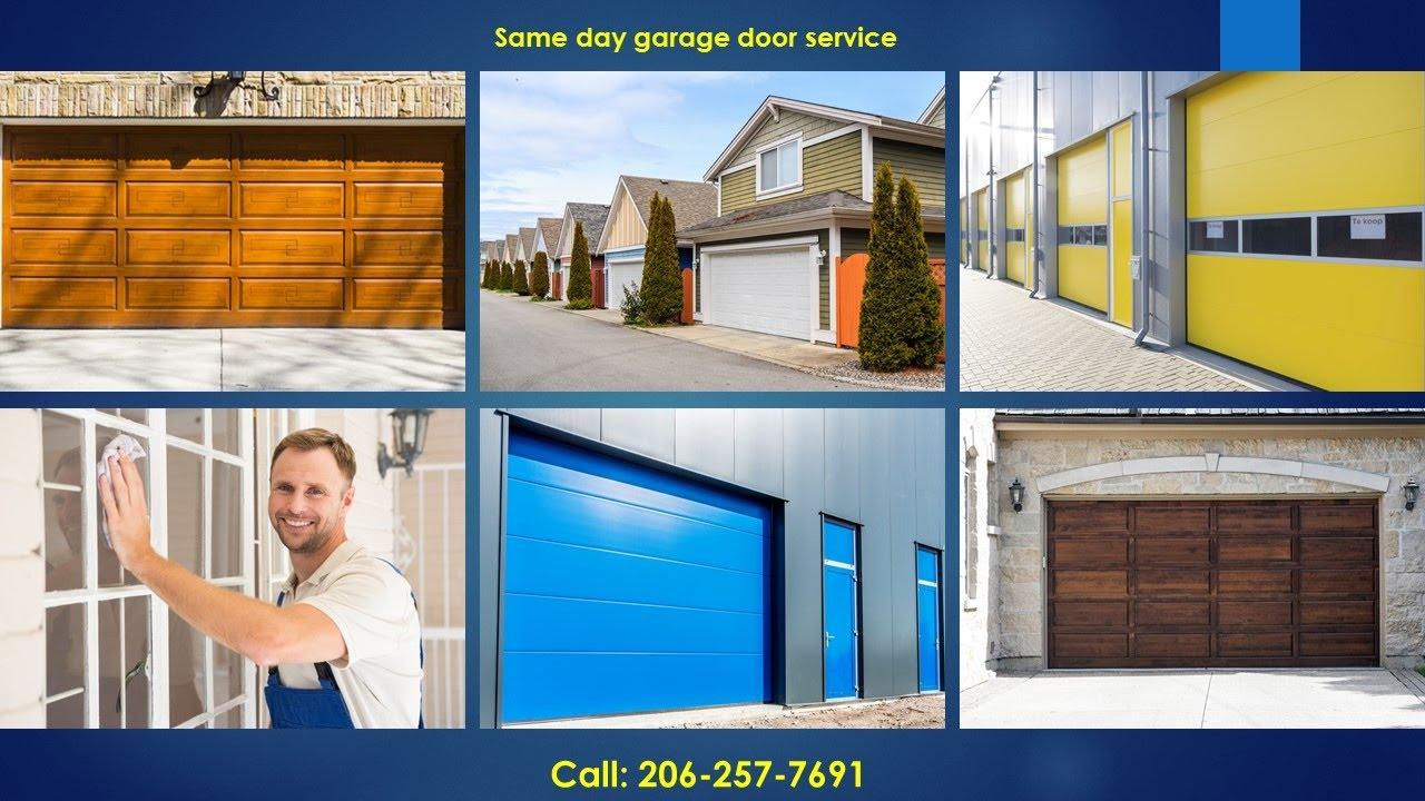 Attirant Garage Door Repair Seattle 206 257 7691 Garage Door Services Seattle WA