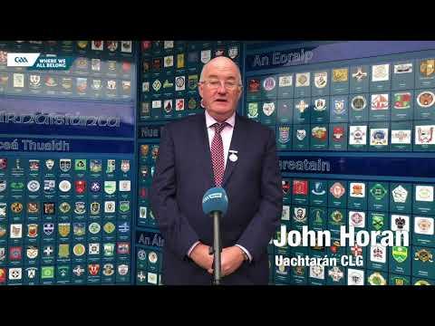 Uachtarán CLG John Horan's Christmas message 2020