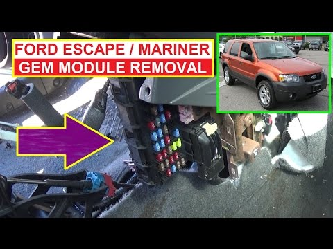 Ford GEM Module Replacement. Ford Escape Mercury Mariner GEM Module Removal and Replacement