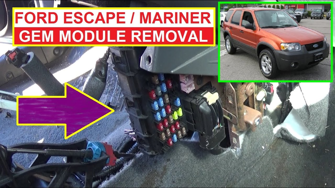hight resolution of ford escape mercury mariner gem module removal and replacement