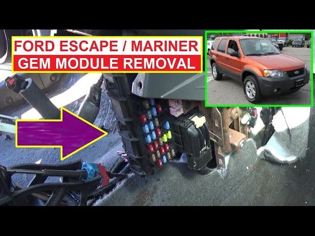 Ford GEM Module Replacement  Ford Escape Mercury Mariner GEM Module