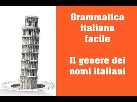 Grammatica italiana il genere dei nomi italiani youtube for Nomi dei politici italiani