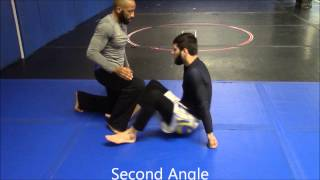 Geo teaches Electric Chair from Reverse Lockdown training for mma oceanside