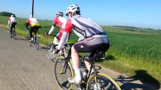 HSBC London to Paris bike ride - May 2013 - high speed - formation