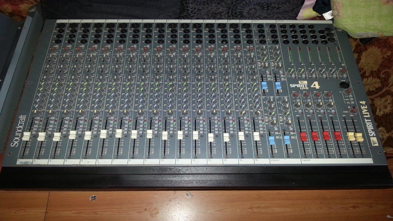 soundcraft spirit live 4 16 4 2 mixing console restoration rh youtube com Visions of Spirits Live Visions of Spirits Live