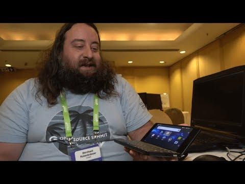 Bero shows AOSP TV 8.1, Gemini PDA, Android with newer kernels at Linaro LMG/LHG hacking room