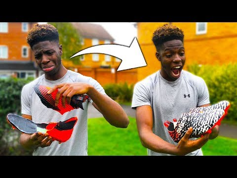 Destroyed Friend's Football Boots And Bought Him New One's (Gone Wrong)
