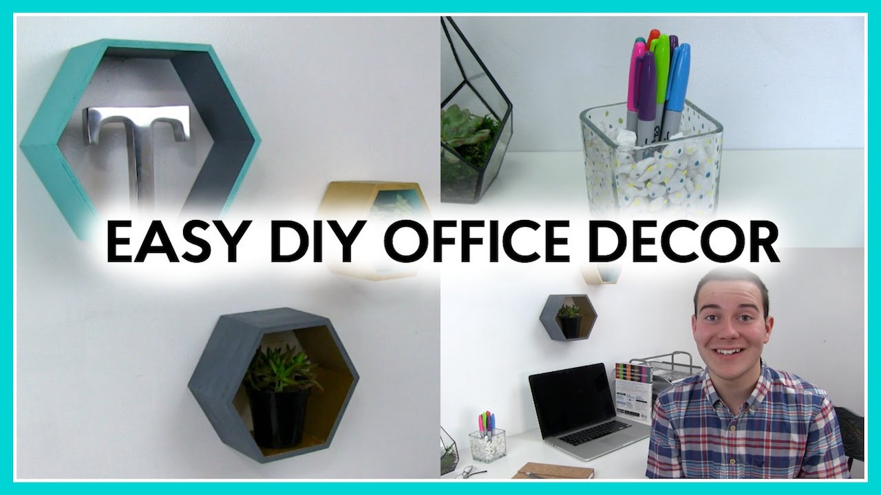 Easy Diy Office Decor Room Decorating Youtube