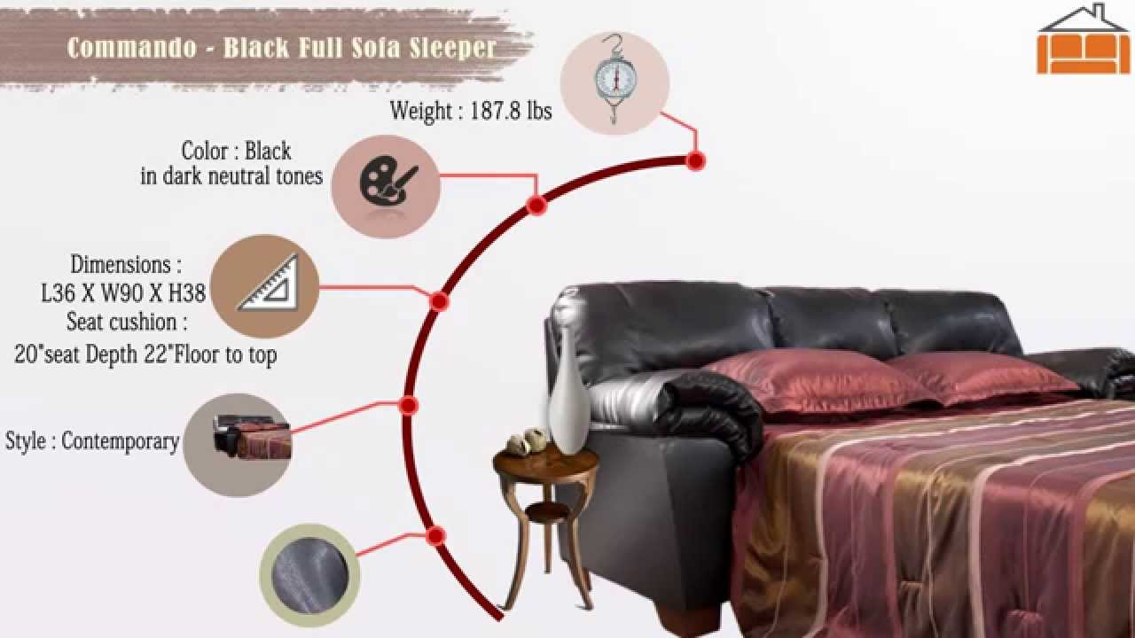 Commando Black Full Sofa Sleeper Youtube