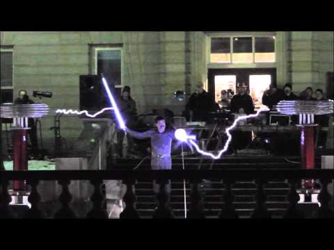 Musical Tesla Coils at UIUC Engineering Open House 2013!