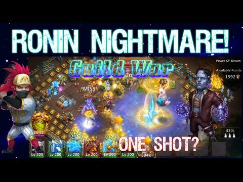 Ronin's NIGHTMARE CREATION! Guild War - Castle Clash