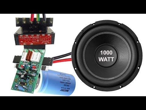 How to make home subwoofer amplifier (TDA 2613)