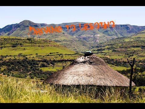 Driving into Gachas Nek Border Crossing to Lesotho