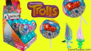 Dreamworks Trolls Plastic Surprise Easter Eggs Chupa Chups Lollipops Toys Fun Kids Poppy