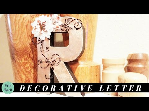 Decorative and Elegant Home Decor Letter