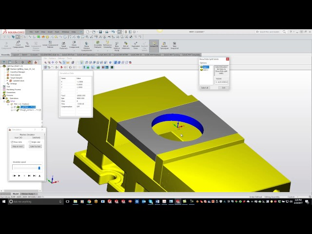 How to Remove Unwanted Material From Solid Verify