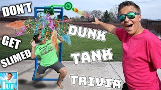 DUNK TANK TRIVIA GAME! Don't Get Slimed Challenge!