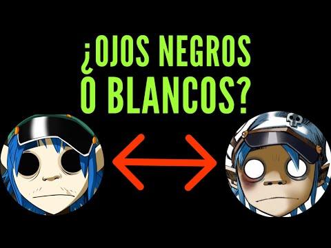 ¿Por que 2D tiene los ojos negros y blancos? (Gorillaz)