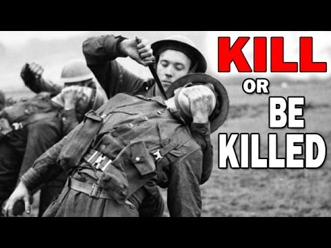 Kill or Be Killed  U.S. Army WW2 Training Film  Self Defense and Combat Techniques, Hand Weapons