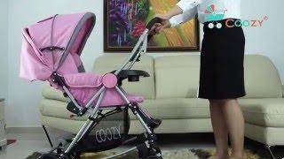 Xe đẩy cho bé COOZY Ariel 126 - Pink 0946416466 -HCM